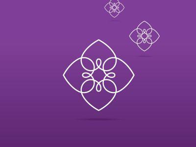 Heart logo design icon, luxury jewelry vector illustration. Expensive floral diamond icon.
