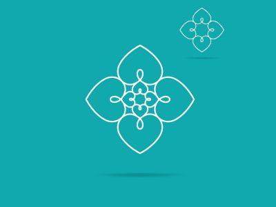 Heart logo design icon, luxury jewelry vector illustration. Expensive floral diamond icon
