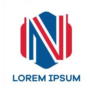 N letter logo design. Letter n in hexagonal shape vector illustration.