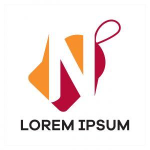 N letter logo design. Letter n in sale/discount tag vector illustration.
