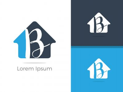 B Logo, B Logo Design, Initial B Logo, Circle B Logo, Real Estate Logo