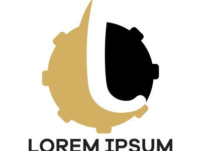 L letter logo design, Letter L in gear vector illustration, mechanic and automobile logo icon.