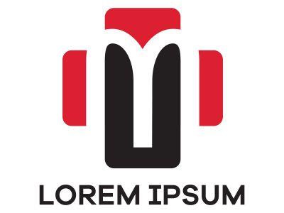 M letter logo design. Letter m in medical plus vector illustration.