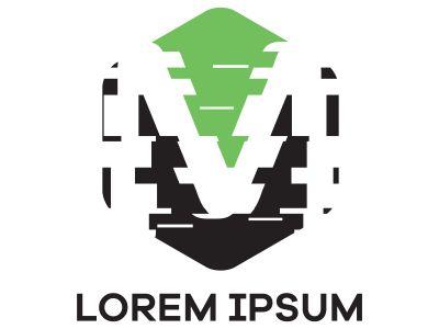 M letter logo design. Letter m in hexagonal shape vector illustration.