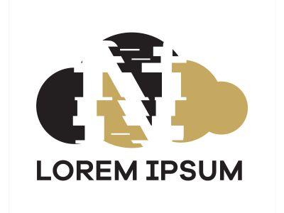 N letter logo design. Letter n in sky shape vector illustration.