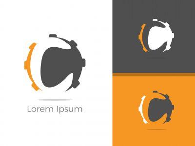 C. C monogram logo. C letter logo design vector illustration template. C logo vector.
