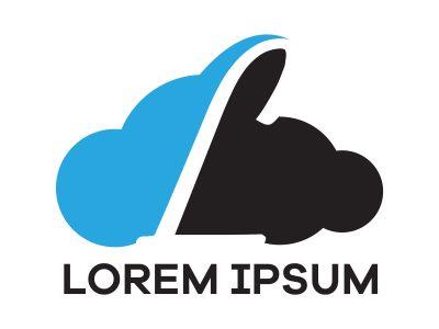 L letter logo design, Letter L in Sky shape vector illustration
