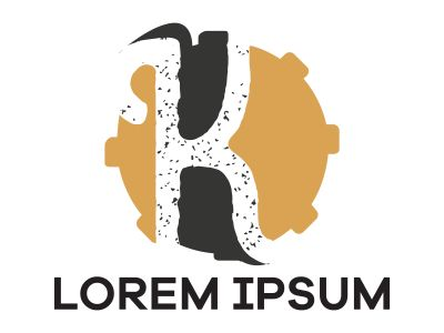 K letter logo design. Letter k in circle shape vector illustration.