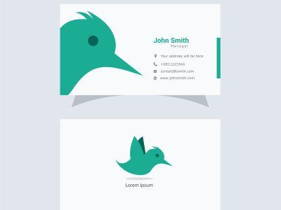 Cute and beautiful logo, bird business card
