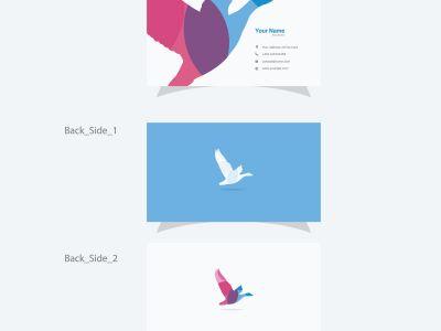 Bird vector logo and business card, eagle logo