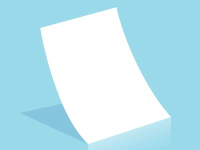 Mockup blank white paper page A4 size with shadow. Vector A3 size paper mock up isolated on gray background.