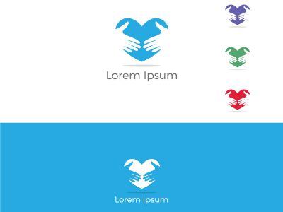 Two hands in heart vector, Handshake heart logo, successful partnership vector design