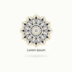 Mandala vector logo design. Round decorative and geometric emblem. Luxury floral and flower style emblem.