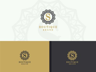 Luxury letter S monogram vector logo design. mandala and ornamental illustration. Cosmetics and beauty products icon.