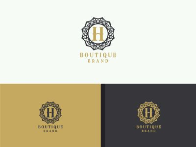 Cosmetic H letter logo design. Luxury hotel letter H vector monogram. high fashion brand icon.