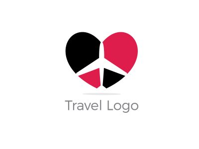 Travel logo design. Airplane in sale tag vector illustration. Holidays and tourism symbol.