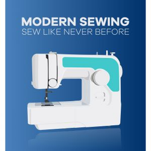 Sewing machine. Flat design vector illustration.