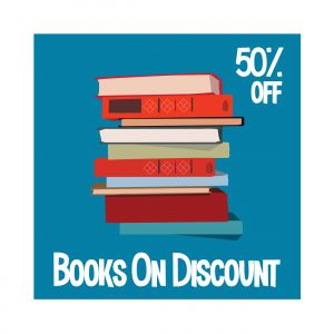Books sell  Vector illustration for poster, banner, advertising.