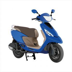 Vespa scooter, scooter illustration