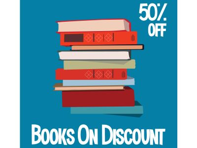 Books sell  Vector illustration for poster, banner, advertising.