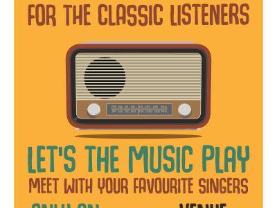 Radio illustration, poster template Free Vector.