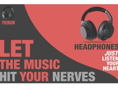 Headphone illustration Banner