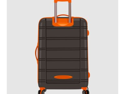 Suitcase realistic style Free Vector