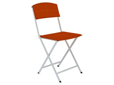 Chair detailed single object realistic allustration design