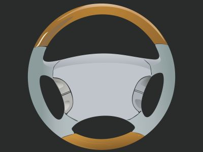 car steering wheels illustration