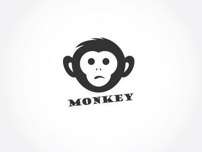 Monkey in shield logo design, monkey vector icon, animal illustration