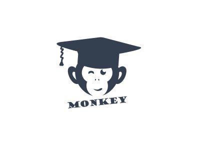 Monkey logo design, monkey vector icon, animal illustration
