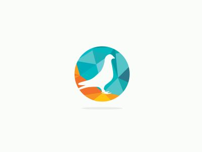 colorful birds illustration, pigeon, hummingbird, flying duck vector logo design