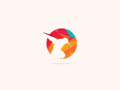 colorful birds vector logo design, freedom, happiness, fly, in circle humming bird, flying duck, crow illustration