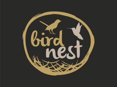 Bird Nest vector logo design