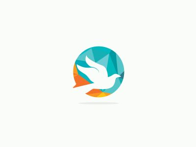 olorful birds vector logo design, freedom, happiness, fly, in circle hummingbird, flying duck illustration