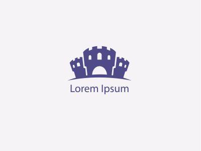 Fort Logo Design, castle vector illustration.