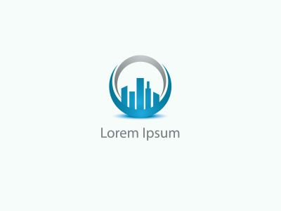Building vector logo design, construction company skyline city icon.