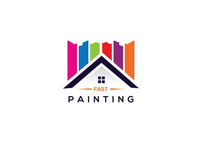 Paint home sign icon. Painting tool symbol. rainbow color home illustration