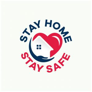 Stay home and save lives  design Free Vector