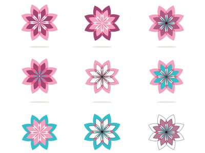 flower design vector for spa boutique beauty salon cosmetician shop yoga class luxury hotel and resort.