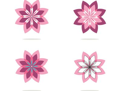 flower design vector for spa boutique beauty salon cosmetician shop yoga class luxury hotel and resort