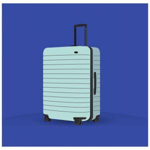 Suitcase vector illustration, luggage bag icon. Brief case vector.