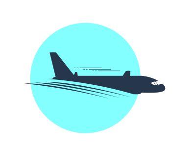 Airplane vector illustration, logo design. Passenger plane icon.