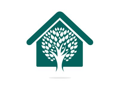 Tree House logo design. Minimal tree house logo company and business.