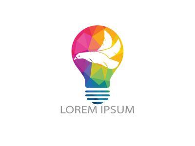 Eagle light bulb logo design. Creative idea concept design.