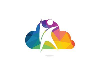 Human Health logo design. Healthcare Cloud shape vector logo concept illustration. Logo design template for clinic, hospital, medical center, doctor and etc.