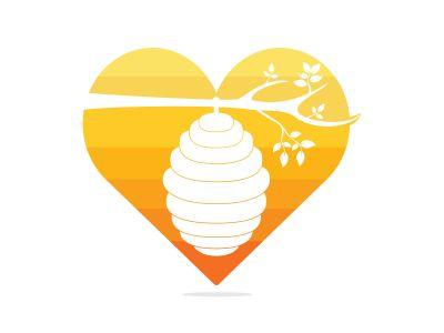 Honeycomb Hive Logo Vector Design. Honey icon flat vector illustration for logo, web, app, UI.