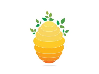 Honeycomb Hive Logo Vector Design. Honey icon flat vector illustration for logo, web, app, UI.