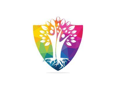 Family Tree And Roots Logo Design. Family Tree Symbol Icon Logo Design