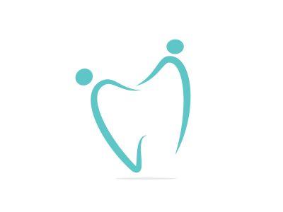 Family dental medical clinic logo design. Abstract human and tooth vector logo design.